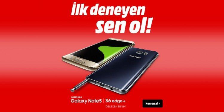 Samsung Galaxy S6 Edge Plus ve Samsung Galaxy Note 5 Stokta