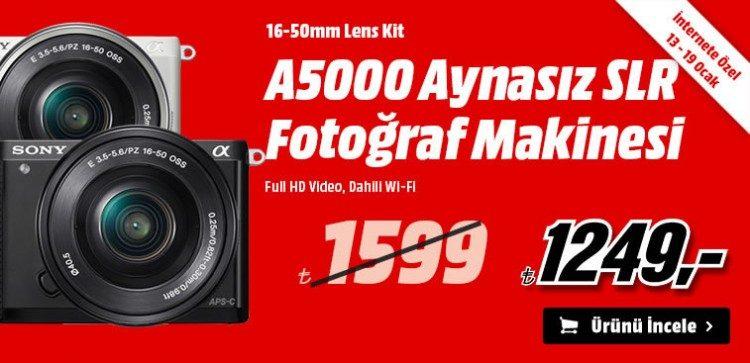 Sony A5000 Aynasız Fotoğraf Makinesi 1249 TL