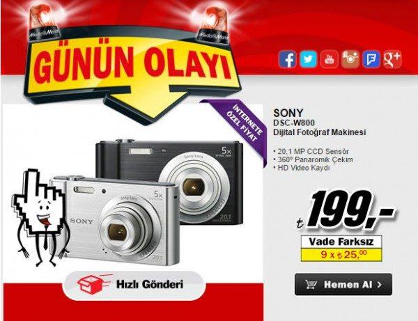 Sony DSCW800 Dijital Fotoğraf Makinesi 199 TL