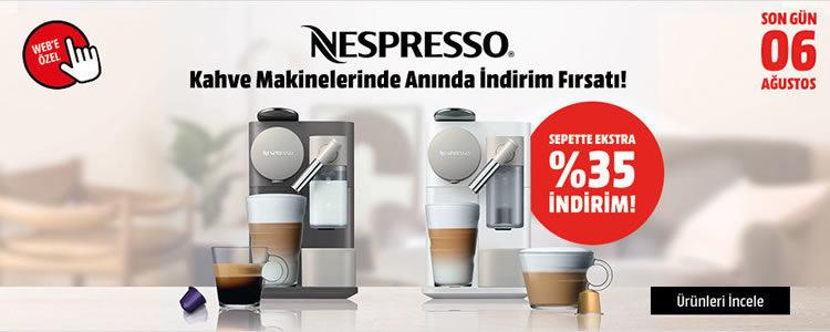 Nespresso'lar Sepette %35 İndirimli
