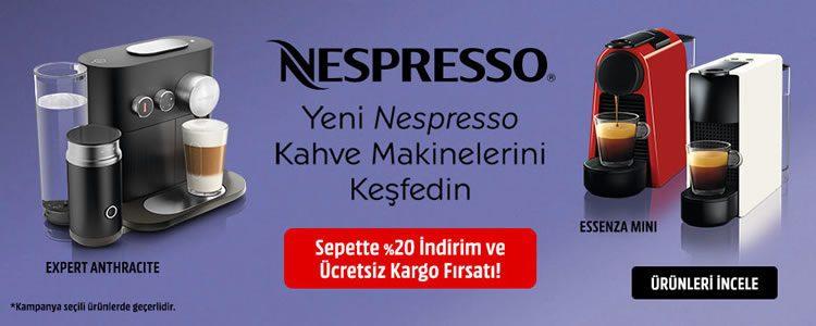 Yeni Nespresso'lar Sepette %20 İndirimli, Kargo Bedava!