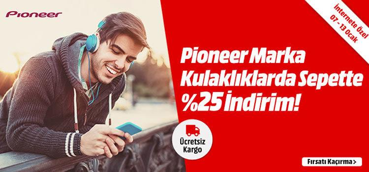 Pioneer Kulaklıklarda %25 İndirim