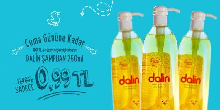 Dalin Şampuan Sadece 0,99 TL!