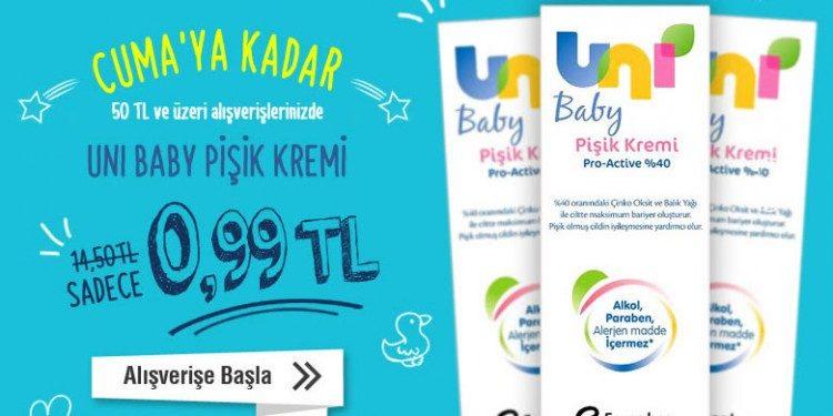 Uni Baby Pişik Kremi Sadece 0,99 TL!