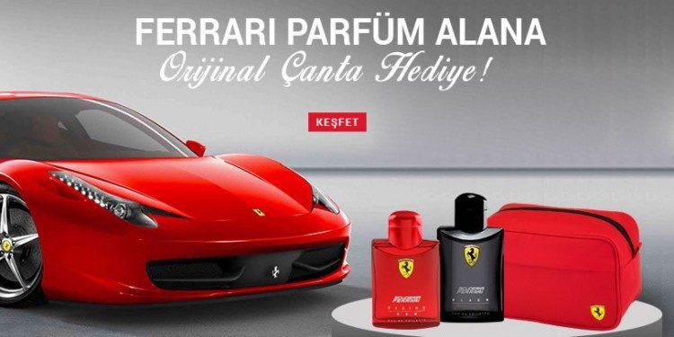 Ferrari Parfüm Alana Orijinal Çanta Hediye
