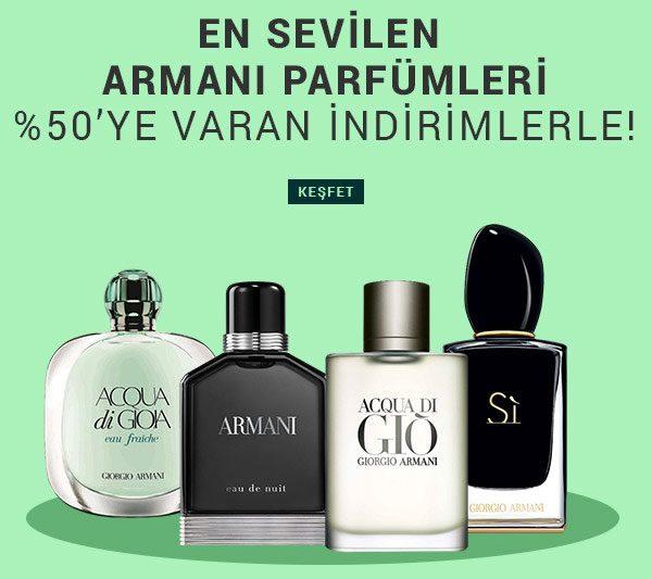 Armani Parfümlerde %50'ye Varan İndirim