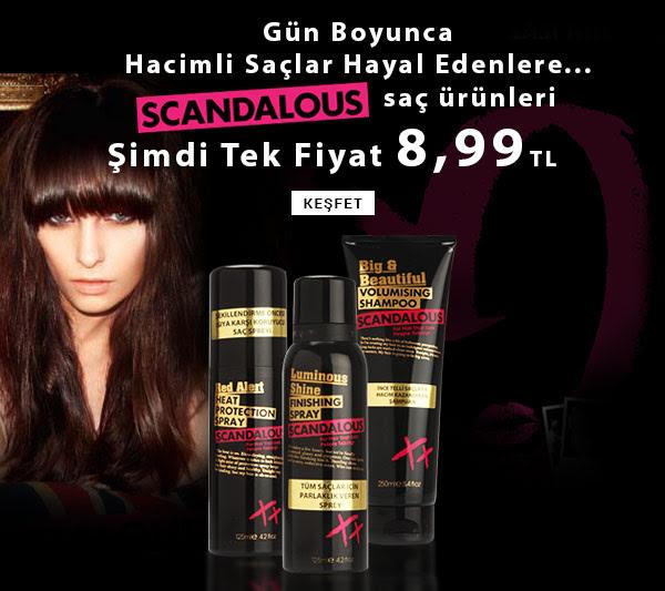 Scandalous Saç Ürünlerinde Tek Fiyat MissPera'da