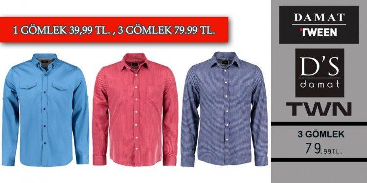 3 Adet Gömlek 79 TL!