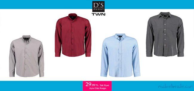 D'S Damat ve TWN Gömleklerde Tek Fiyat: 29,99 TL