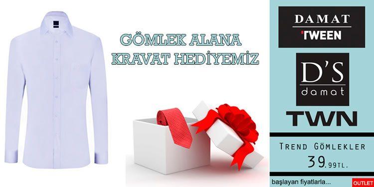 Gömlek Alana Kravat Hediye