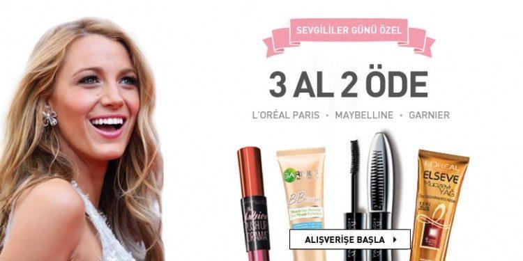 L'Oreal Paris, Maybelline, Garnier'de Sevgililer Günü'ne Özel 3 Al 2 Öde