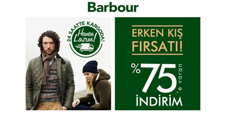 %75'e Varan Barbour İndirim Kampanyası