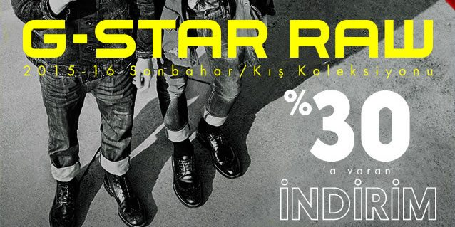 G-Star Raw Sezon İndirimi