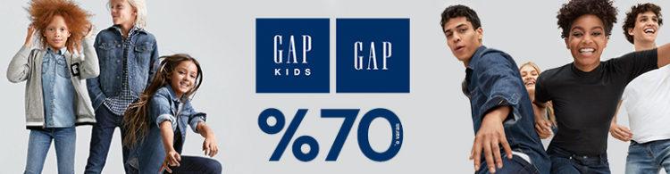 GAP & GAP Kids'te %70'e Varan İndirim!