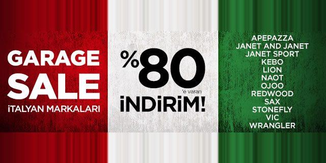 İtalyan Markalarında Büyük İndirim