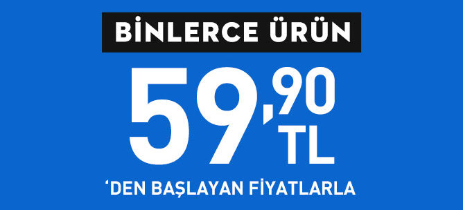 Kabanlar Şimdi 59,90 TL'den Başlayan Fiyatlarla!