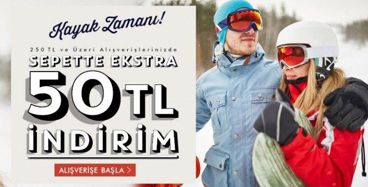 """""""Kayak Fırsatları"""" Sepette 50 TL İndirimli"""