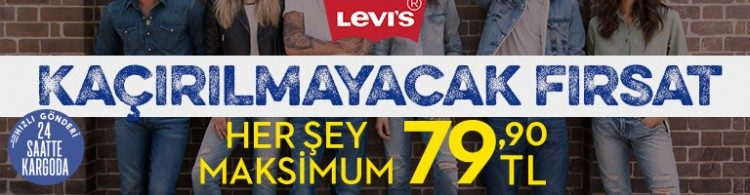 Levi's Kampanyasında Her Şey Maksimum 79 TL!