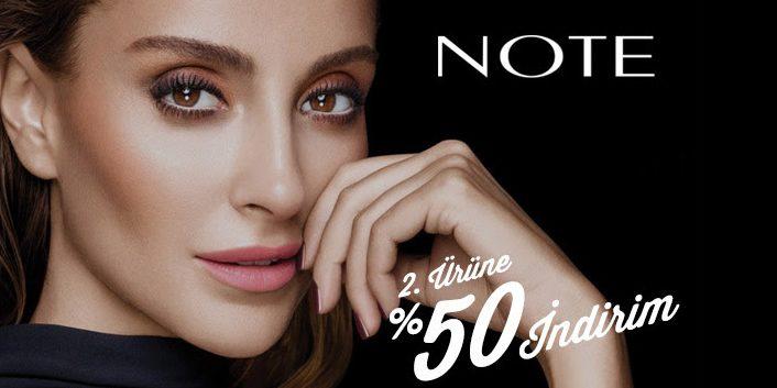Note Makyaj Ürünlerinde İkinciye %50 İndirim Fırsatı