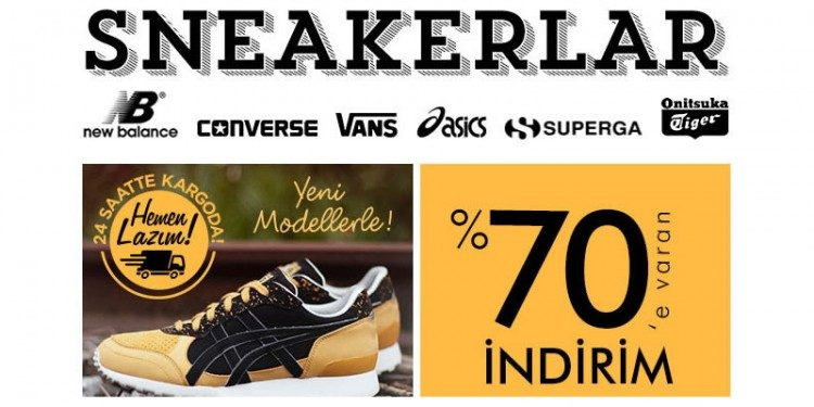 %70'e Varan İndirimlerle Dünyaca Ünlü Sneaker Ayakkabılar