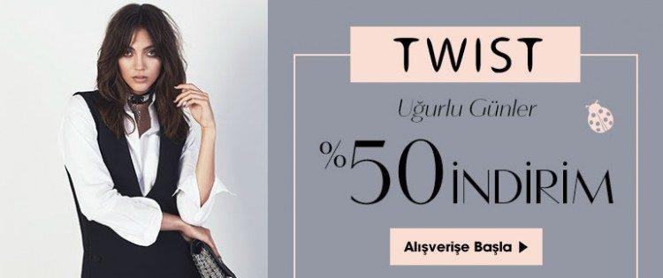 Twist Sezon Ürünlerinde %50 İndirim