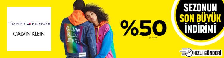 Tommy Hilfiger & Calvin Klein Ürünlerinde %50'ye Varan İndirim!