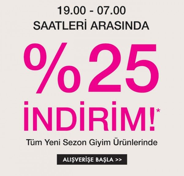 Mudo'dan %25 Fashion's Night Out İndirimi