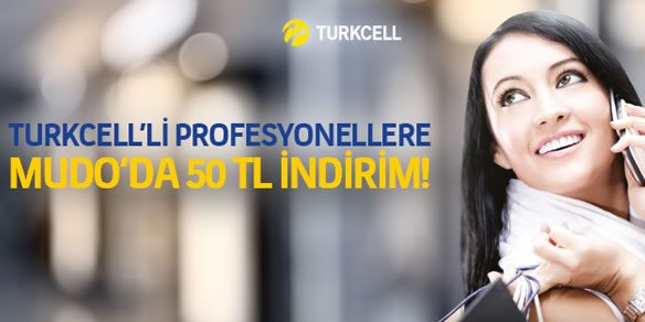 Turkcell'lilere Mudo'da 50 TL Anında İndirim