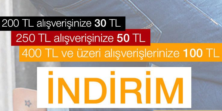 100 TL Mustang Jeans İndirimi