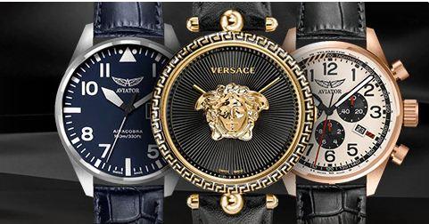 Versace ve Aviator Saatlerde Sepette %15 İndirim