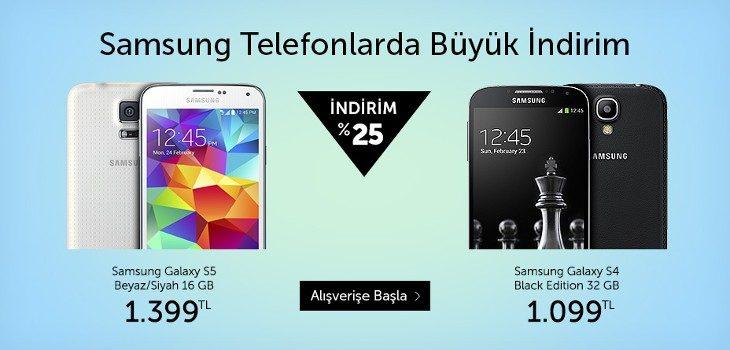 Samsung Galaxy Telefonlarda %25 İndirim