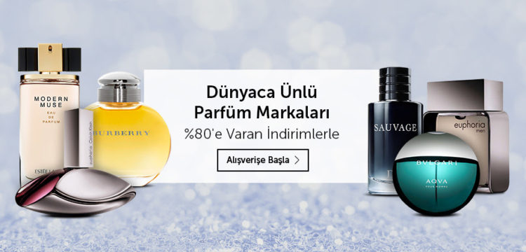Dünyaca Ünlü Parfüm Markalarında %80'e Varan İndirim!