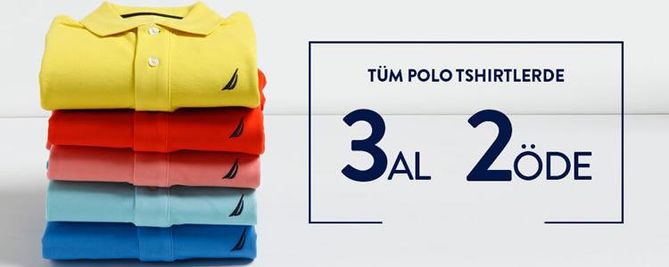 Nautica Polo Tişörtlerde 3 Al 2 Öde