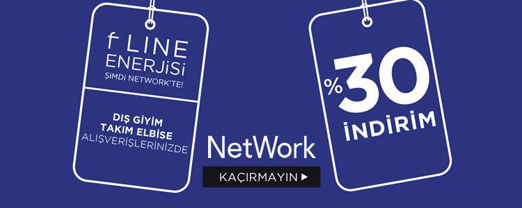 NetWork Dış Giyim ve Takım Elbisede Net %30 İndirim