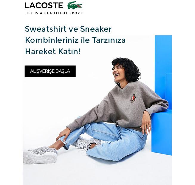 Lacoste Sneaker & Sweatshirlerde İndirim!