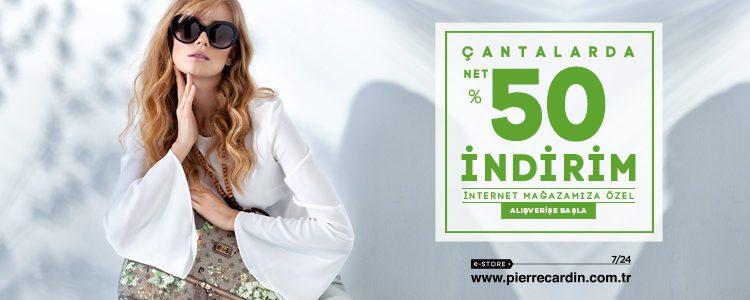 Pierre Cardin Çantalarda Net %50 İndirim