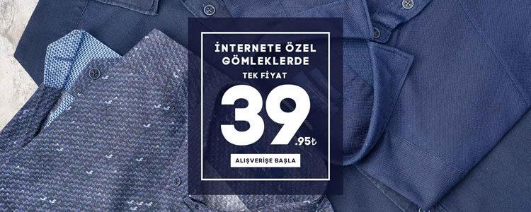 Pierre Cardin Gömleklerde 39 TL Tek Fiyat