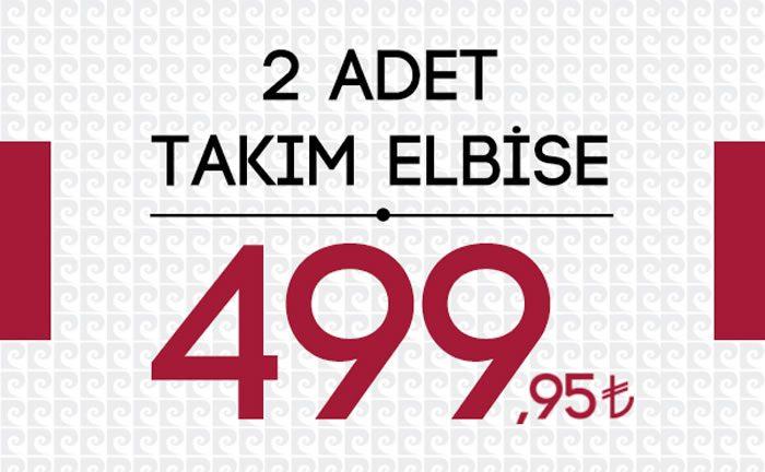 İki Adet Pierre Cardin Takım Elbise 499 TL