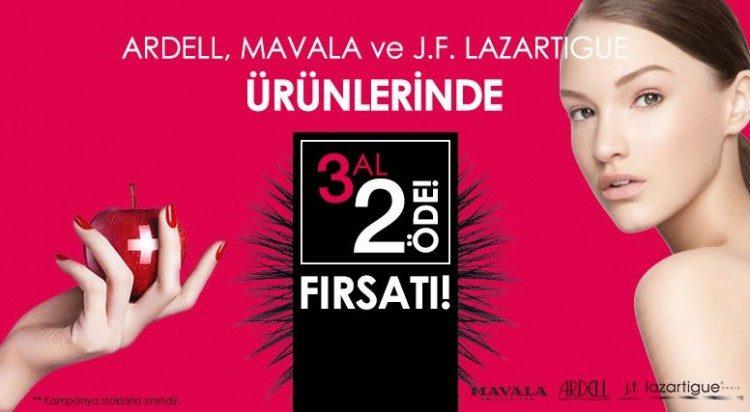Ardell, J.F. Lazartigue ve Mavala'da 3 Al 2 Öde