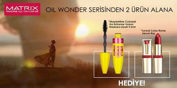 Matrix Oil Wonder Alana Maybelline Maskara ve L'Oreal Ruj Hediye!