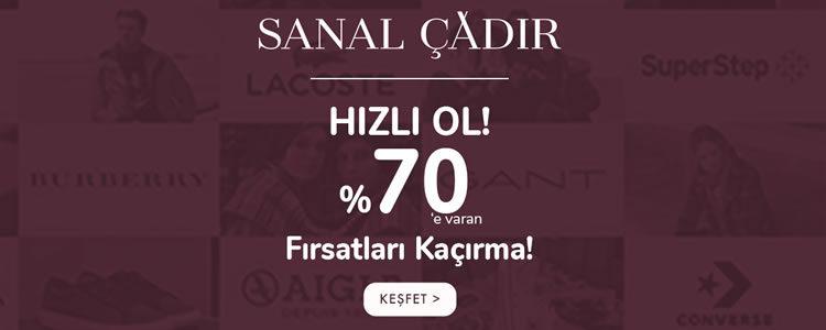 Sanal Çadır'da İndirim %70'e Çıktı!