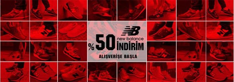 New Balance Ürünlerinde Net %50 İndirim