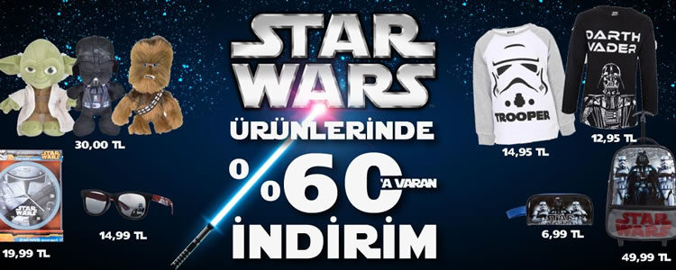 Star Wars Ürünlerinde %60 İndirim
