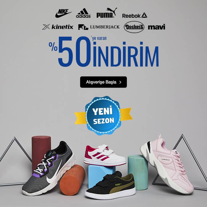 Nike, Adidas ve Daha Fazlasında %50'ye Varan İndirim!