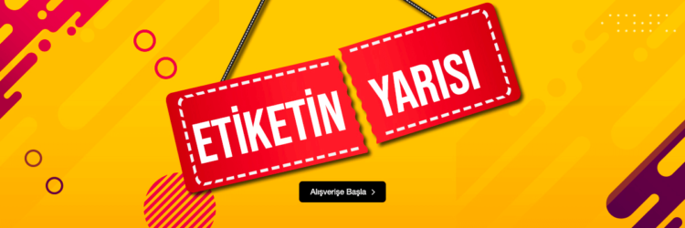 InStreet'te Etiketin Yarısı İndirim Kampanyası Başladı!