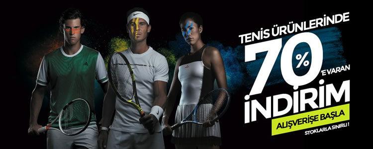 Tenis Ürünlerinde %70'e Varan İndirim