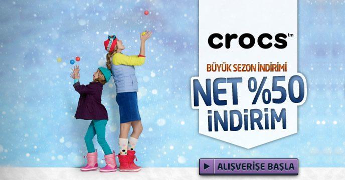 Crocs Sezon Ürünlerinde Net %50 İndirim