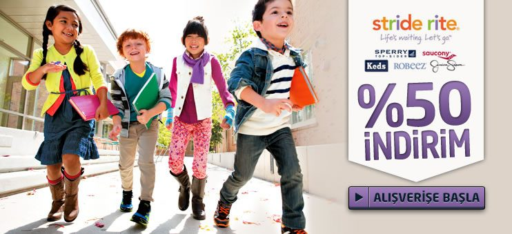 Stride Rite, Keen, Keds, Merrell ve Diğer Çocuk Ayakkabılarında %50 İndirim