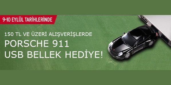 Porsche 911 USB Bellek Tchibo'dan Hediye