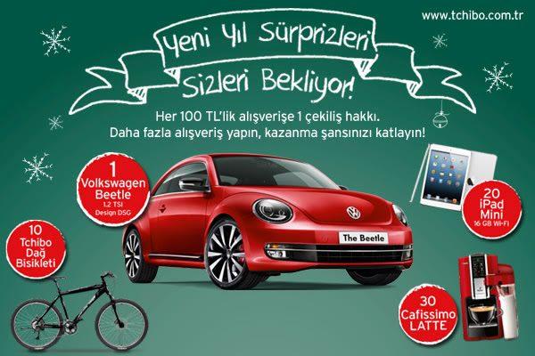 Tchibo Yeni Yıl Hediyeleri: Volkswagen Beetle, Dağ Bisikleti, Apple iPad Mini, Cafissimo